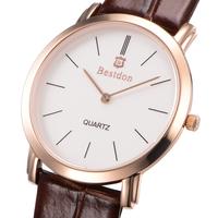 Bestdon brand classic elegant Ultra-thin Leather Strap men quartz Watch relogio masculino men's watches 2015 casual wristwatches
