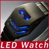 New Fashion Super Heroes Iron Man Mask Full Steel LED Watch Unisex Casual Watch For Men Women Digital Watch Wristwatch Relojes