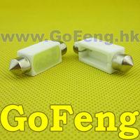 50pcs/lot led high power Car festoon light,Auto Led festoon c5w 41MM  2W ceramic body bulbs HK POST FREE SHIPPING
