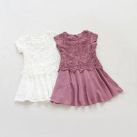 girls summer dress party dress lace girl dress princess summer 2015 New