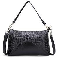 New Arrival Genuine Leather Bag Women Messenger Bags Knitting Pattern Women Handbag Shoulder Bags HB-248