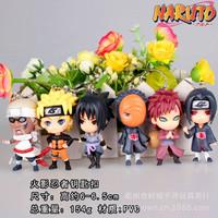Free Shipping DHL 300PCS=50SET Anime Cartoon Naruto Pein Zetsu Metal Figure Keychain Keyring For Christmas Gifts Free Shipping