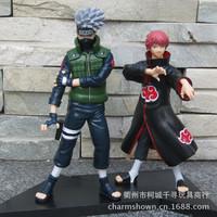 Free Shipping Naruto Hatake Kakashi VS Sasori Action Figures PVC Model Toys set of 2 NTFG011