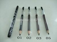 Free HK via POST(4pcs/lot)Fashion Design HELLO KITTY Waterproof Black Brown Eyebrow Pencil With Brush Make Up pencil eyeliner