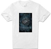 Mens Clothing T-Shirts Direwolf Game of Thrones House Starck Wolf T Shirt Women Full Cotton short Sleeve White XXL Top T Shirt