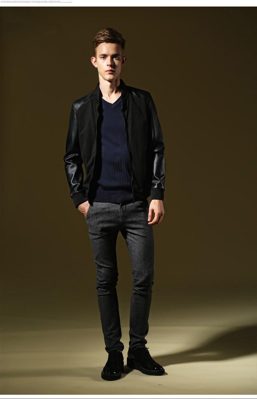 Plain Leather Jacket Mens Mens Leather Jackets Coats