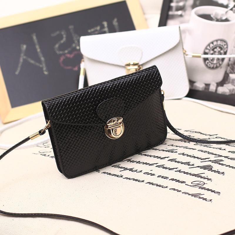 2015 new handbag knitted mini packet Halter mobile phone bag fashion multi-layer functional Mini Crossbody wallet zero(China (Mainland))
