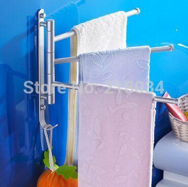 European high-grade space aluminum bathroom racks heated towel rail(China (Mainland))