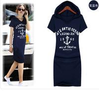 2015 one-piece dress spring and autumn women's set sweatshirt dress casual one-piece dress