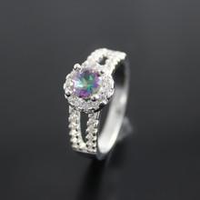 60% off Rainbow Austrian Crystal CZ Diamond mystic Topaz vintage women Finger Rings austrian anneaux bague de mariage Ulove J510