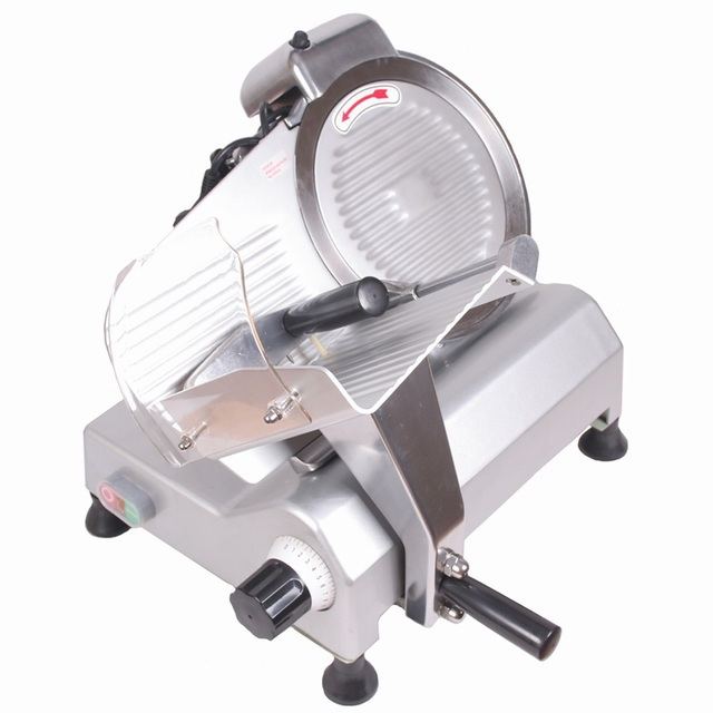 """FOOD AND MEAT SLICER 10"""" BLADE SIMPLE STRUCTURE CONVENIENT TO USE COMMERCIAL ELECTRICL SEMI AUTOMATIC SLICER MEAT BREADS 250B3(China (Mainland))"""