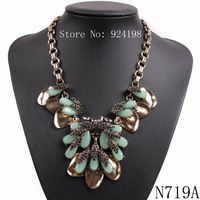 new arrival fashion trendy bib collar chunky resin luxury fashion necklaces & pendants choker necklace for women 2015 jewelry