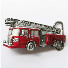 Transporte da gota fivela série de bombeiros vermelho 3D bombeiro caminhão vermelho Belt Buckle ocidental agradável do presente para ele(China (Mainland))
