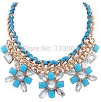 Wholesale Meaning Jewelry fashion metal braided fashion rhinestone flower  3 pieces one lot SC-117