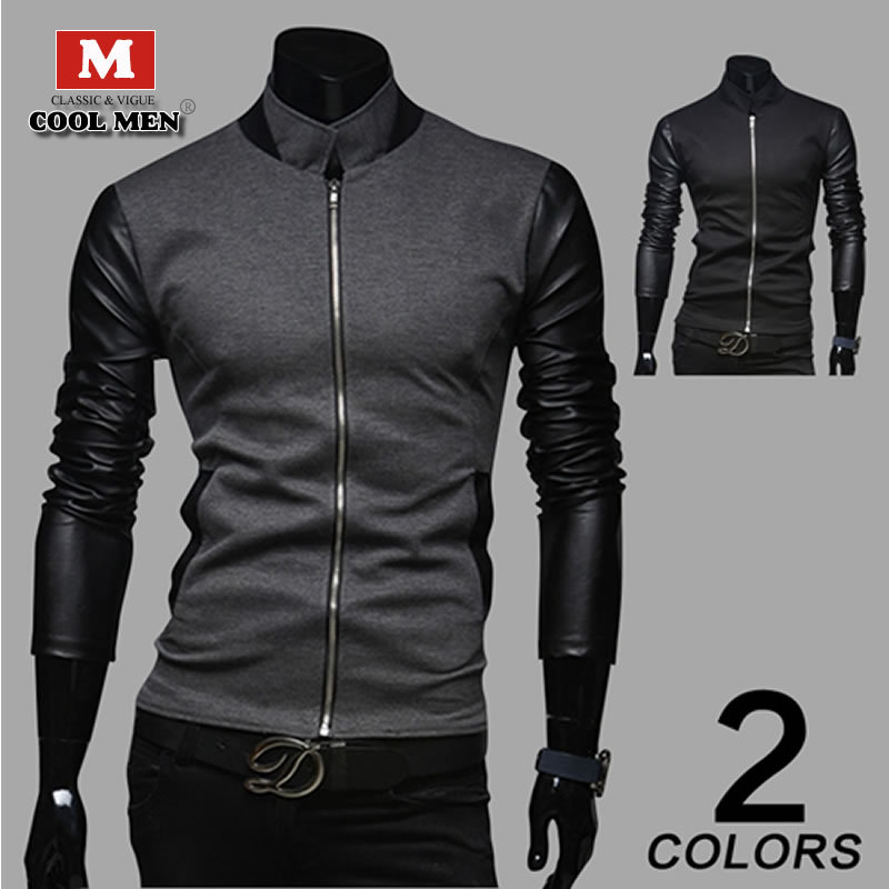 The new foreign trade sales han edition splicing fleece fashion and personality Men's jacket(China (Mainland))