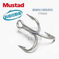 4 packs/lot mustad  treble sea fishing hooks  7794-ds #  3 x Bold  3 x  strengthen DACROMET treated  super seawater resistant