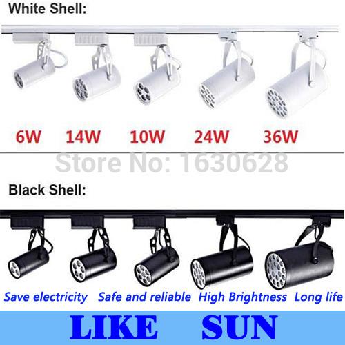 FREE SHIPPING Cool white Led Track Light 36W 120 Beam angle Led Ceiling Spotlight AC 85-265V led spot lighting + CE ROHS CSA UL(China (Mainland))