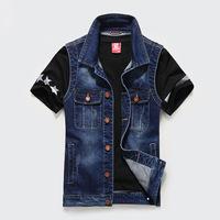 New brand brand men's denim jacket slim waist denim jacket youth all-match coat