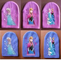 1PC Baby Girl's Hat Cap Baby Beanies Children Girl Kids Hats Popular Elsa Anna Children Winter Knited Hat for Girls Beanies