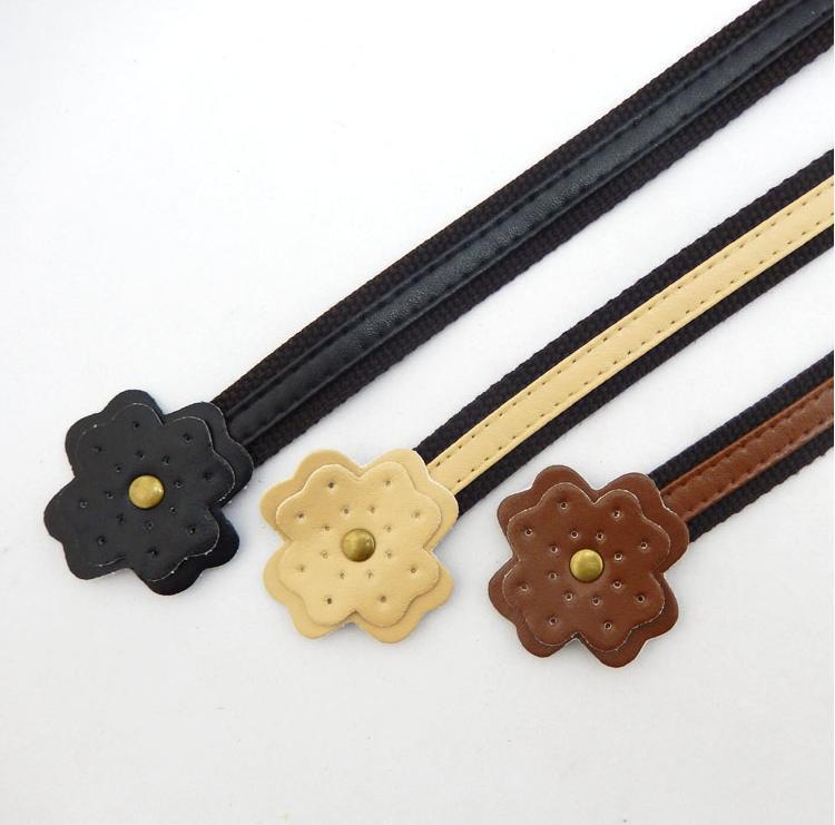 free shipping flower shap webbing bag handle,bag accessoies and bag part(China (Mainland))