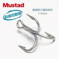 16 packs/lot mustad  treble sea fishing hooks  7794-ds #  3 x Bold  3 x  strengthen DACROMET treated  super seawater resistant