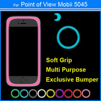 New Arrival Multi Purpose Silicon Soft Grip Exclusive Universal Bumper Case For Point of View Mobii 5045 + Free Gift