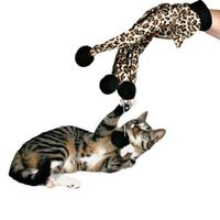 Pet toy leopard print cat gloves cat toy