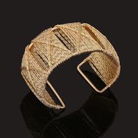 2015 New Fashion punk cuff bangle charm 18k gold Unique Geometry Irregular bracelet jewelry for women BZ0204