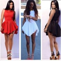 EBay sells Europe and America Promotion explosion models of irregular hem bandage dress dress sexy nightclub