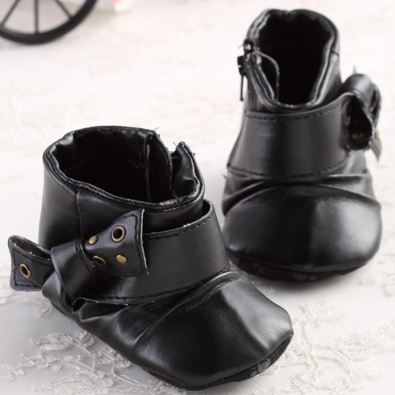 Grátis frete preto moda sólidos manter quente botas bebê bonito sapatos da criança bebê menina sapatos primeiros caminhantes(China (Mainland))