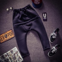 The new spring 2015 men's fashion brand men's NEOPRENE low crotch harem pants men casual sweatpants N15097