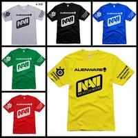 Customization SteelSeries Navi game team jersey T Shirts gaming dota2 navi 100% cotton o-neck short-sleeve Natus Vincere t shirt
