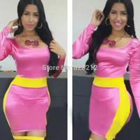 New Sexy Womens Long Sleeve Dresses Slim  Party Mesh Club Mini Sheath Dress Bandage Dress