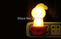 2pcs/pack on-off control rabbit shape night lights, light-operated, 1 kilowatt 1 year, LED-404, free shipping