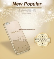 """For iphone6 4.7"""" cases Ultra-thin soft Golden Minnie mickey stitch KT cat  cell phone cases free Shipping"""