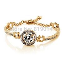 New Luxury Austrian Crystal Bracelet for Women Fashion Charm Bijoux Bracelets