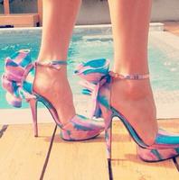 New Design Women Flower High Heel Weeding Shoes Brand Fashion Gladiator platform Pumps women heels 2015