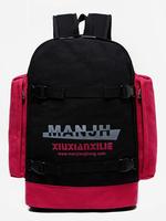 2015 new canvas schoolbag men and women backpack Korean fashion spot color shoulder stitching rucksack bookbags mochila