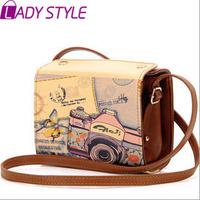 fashion vintage graffiti women handbag camera bag messenger Bags shoulder bags handbags women famous brands new 2015 HL3616