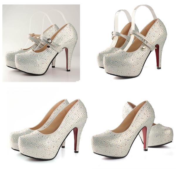 get cheap silver prom heels aliexpress