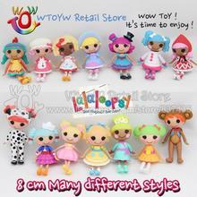 1 unidades nuevo 2014 envío gratis kawaii 8 cm Lalaloopsy doll figuras de acción niños del juguete del bebé muñecas para la muchacha brinquedos regalo de las muchachas