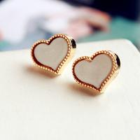 FREE SHIPPING Hot Sale Alloy  Heart Earrings,E3776