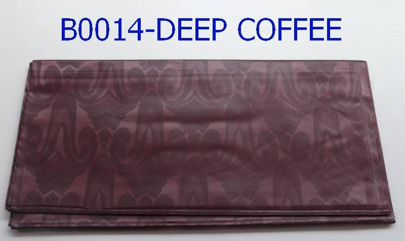 2015 polyester jacquard fabric polyester brocade for bazin dress B0014 deep coffee(China (Mainland))
