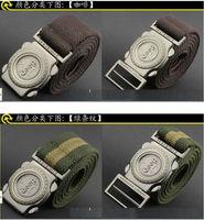 factory wholesale thick canvas Tactical belt outdoor belt Korean casual fashion wild belt