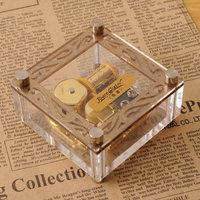 Exquisite gold plated music box music box birthday gift girlfriend gifts