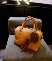 The new spring 2015 Boston pillow pack hair bulb retro fashion handbag crocodile grain single shoulder bag