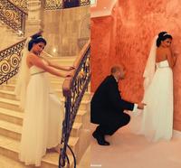 Vestido De Novia Sweetheart Chiffon White Wedding Dresses Custom Made Crystal Cheap Robe De Mariage Bridal Gown 2015 Fashionable