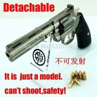 Free shipping 1:2.05 14cm long Alloy Detachable can't shoot Revolver Gun Model,Military Model, Military Souvenir gift,model toy