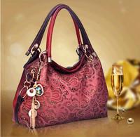2015 new winter Europe hollow handbag gradient color popular diagonal shoulder bags wholesale manufacturers