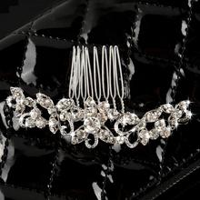 Hot Fashion Rhinestone Crystal Woman Hair Comb Head Tiara Headwear Fiara Wedding Bridal Party Prom Gift